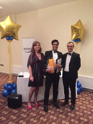 Peterborough Law Society annaul Dinner 2016, Kashif Khan wins Young Lawyer of the Year