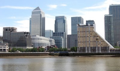 Offices and apartments at Canary Wharf, London