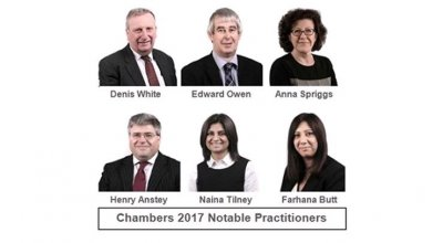 Band 1 recommended Solicitors in Chambers UK 2017