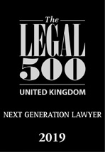 Legal 500 Next Generation Lawyer 2019