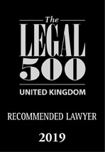 Legal 500 recommended lawyer 2019