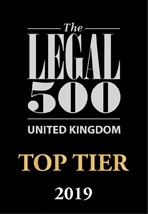 Legal 500 Top Tier Firm 2020