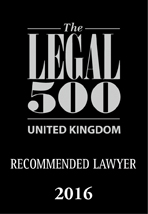 Logo for Legal 500 Recommended Lawyer