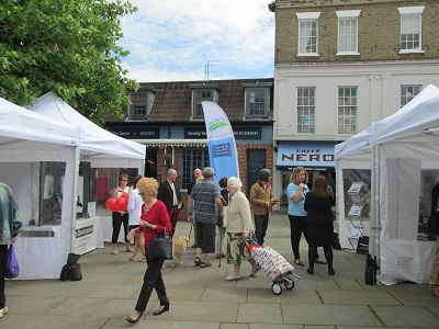 Market Square St Neots Hunt & Coombs Solicitors exhibiting at the St Neots Business Showcase